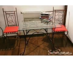 2 seturi masa & scaune din fier forjat