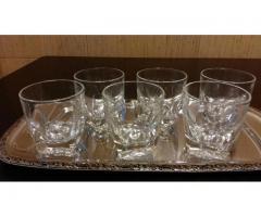 Set 6 pahare semi-cristal whiskey