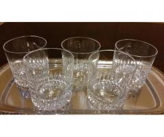 Set 6 pahare din cristal pentru whiskey