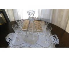 Patru pahare din cristal + sticla