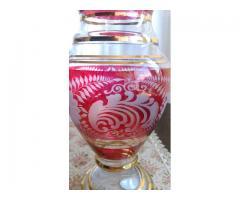 Vaza din cristal cu rubin