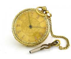 ceas de buzunar aur18k englezesc cu cheie anul 1880