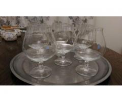 Set 6 pahare de cognac din cristal