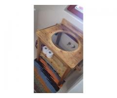 Suport chiuvetă din lemn de fag şi molid (recondiționat)