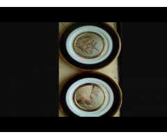 Set 4 farfurii japoneje cu aur (Chonkin)