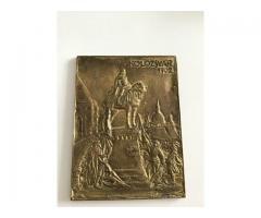 Tablou gravat in bronz Matthias Corvinus 1902