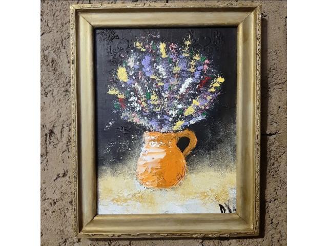 Arta abstracta tablou unicat culori acrilice 32x25 cm
